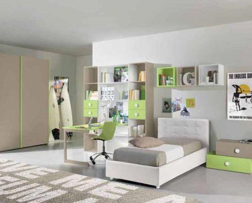 Camerette per bambini e ragazzi linea mobili for Mobili per camerette piccole